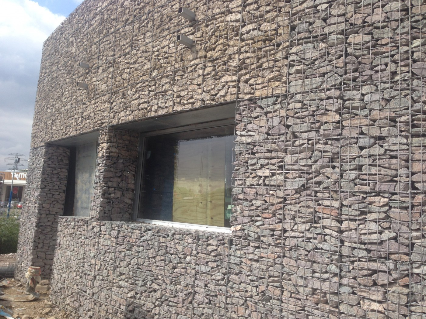 Gabion cladding